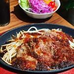 肉バル ジラソーレ - ランチ!リブロースステーキ¥1400 ライス、スープ、サラダ、ドリンク付き