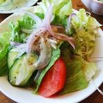 レストラン 蔵王 - ドレッシングで合えたサラダ
