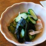 レストラン 蔵王 - 海老も入っている酢の物