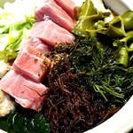 青森地酒専門店 あおもり湯島 - 大人気の大トロ&めかぶのねぎま小鍋
