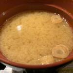 水炊き・焼鳥・鶏餃子 とりいちず - 味噌汁はもう一歩