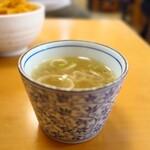 やき鳥 宮川 - 味しっかりな鳥スープ♪