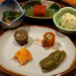 旬菜 甘の井 - 前菜盛り