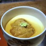 131281145 - *赤雲丹特有の旨味・甘味を感じて美味しい。 茶碗蒸しは「雷山の卵」「鰹と石鯛の骨でとった出汁」を使用され、いつもながらいい味わい。