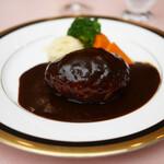 レストラン西櫻亭 - ハンバーグステーキ