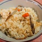 なか安 - 鶏と新牛蒡の炊込みご飯