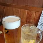 131289505 - 角ハイ480円  生ビール大700円