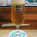 131299919 - 特製のグラスに良く冷えた地ビール