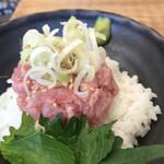 喜多方食堂 - セットネギトロ丼小350円。お寿司屋さん、海鮮料理屋さん以外では、私史上最高のネギトロ丼です(╹◡╹)。すぐに更新されるかもしれませんが(笑)