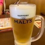 串かつ・たこ焼き 味の大丸 - 生ビール