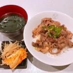 清香園 - 黒毛和牛切落し焼肉丼