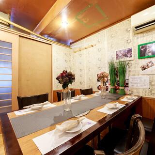 さまざまなシーンに対応できる自慢の完全個室!宴会の予約必須!