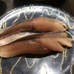 産直グルメ回転寿司 函太郎Tokyo - 自家製〆さば264円。浅い〆具合が、私の好みにぴったりです。とても美味しくいただきました(╹◡╹)