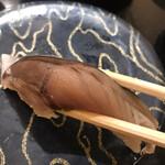 産直グルメ回転寿司 函太郎Tokyo - 自家製〆さば264円。〆具合、適度な脂のりと、私好みで、とても美味しくいただきました(╹◡╹)