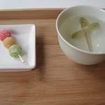Cafe 椿 - らん香煎(小菓子付き)