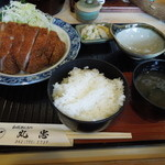 丸忠 - ロースかつ定食
