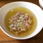 へべれ家 - つけ汁(白醤油鶏)