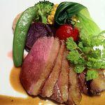 13137419 - Aランチの肉料理は鴨でした。