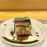 難波 鮨 栞庵 やましろ - 鰻の蒸し寿司