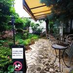 支留比亜珈琲店 - ◆中庭のテラス◆♪