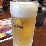 131396783 - 生ビールはサッポロ黒ラベル