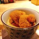 魚工房 としまや - 雲丹ととうもろこしの冷製茶碗蒸し