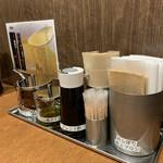 シビレ ヌードルズ 蝋燭屋 - 卓上の味変アイテム