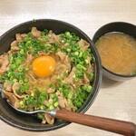 トンテキ食堂8 - 絶品豚丼 + 生卵