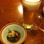 13141628 - ビールとお通しの野沢菜