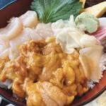 土浦魚市場 - うに&ホタテ丼  ¥1,150 税込