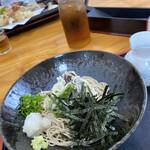 寿多庵 - 冷やし野菜天ぷらかけ蕎麦(1,200円)★★★☆☆