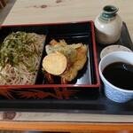 そばよし - 料理写真:【2020.6.12(金)】天ざるそば(並盛)1,000円