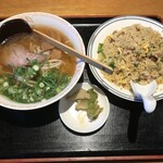 モンテローザ - 炒飯・ラーメンセット
