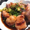 網焼ホルモン 松雲 - 料理写真:自家製ダレにたっぷりと浸けた様子。食べる直前。