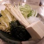 しゃぶせん - 野菜盛り合わせ