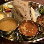 ネパール民族料理 カスタマンダップ - タカリデド&ライスセット