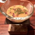 ラ メゾン ドゥ ラ ナチュール ゴウ - ○赤茄子冷製スープに鱧コンソメジュレ様