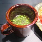 蕎麦酒場角ヤ - スープ