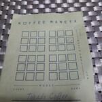 KOFFEE MAMEYA - オリジナルの味覚チャート入り。