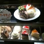 朝日珈琲サロン - ★舟入・お菓子茂謹製★美味しいケーキとドリンクのセット \800(ケーキの内容は季節等により変わります)