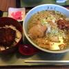 食堂きかく - 料理写真:半ソースかつ丼とサバだしラーメンのセット(税込1,150円)