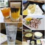 131478350 - 生ビール¥600/たんかんジュース¥470/レモンサワー¥540/いただき物/炙ったサバ/定食セット¥