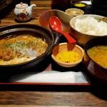季節料理 新大阪 きらく - カツとじ定食