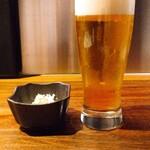 131483448 - 生ビール & お通し