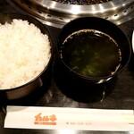 131488267 - ランチのご飯とスープ