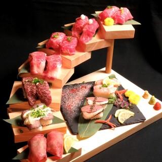 豊富な肉寿司メニュー★