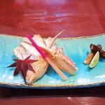 松戸甲羅 - かにと松茸の焼盛りw