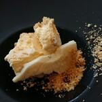 ラー・エ・ミクニ - アミューズ バニラアイスとチーズ