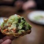 スペイン料理Pablo - 蟹とアボカドのタルタル バケット乗せ