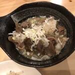 Nakamegurosumibiyakihorumommanten - 〇もつ煮400円